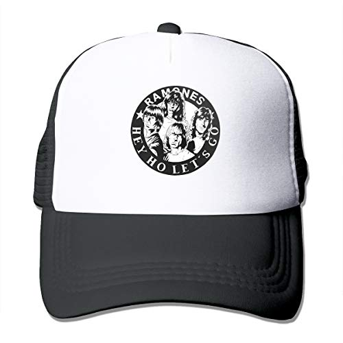 (Ramones Custom Unisex Adjustable Truck Driver Cap Black)