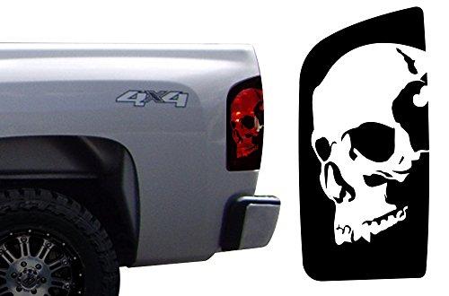 Factory Crafts Chevrolet Silverado 2008-2013 Skull Brake Light Graphics Kit 3M Vinyl Decal Wrap - Matte ()
