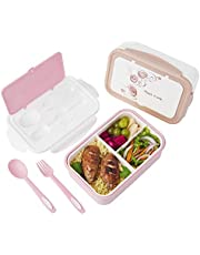 Bento Lunch Box – 3 Tier Box Containers – FDA Approved, BPA Free Meal Box for Adults & Kids…