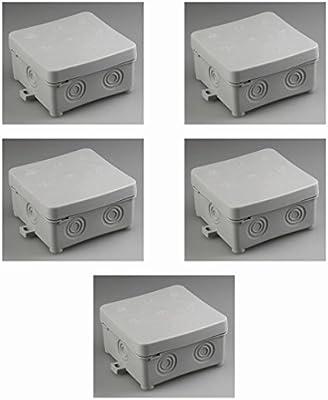 5 piezas de derivación, caja de conexión, 75 x 75 x 37 mm, IP57: Amazon.es: Iluminación