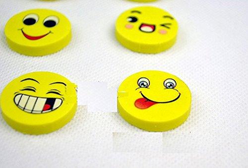 Xjoel Netter Kawai Smiley Gummiradiergummis für Kinder School Supplies-Geschenk-Briefpapier 4pcs (1 Paket)
