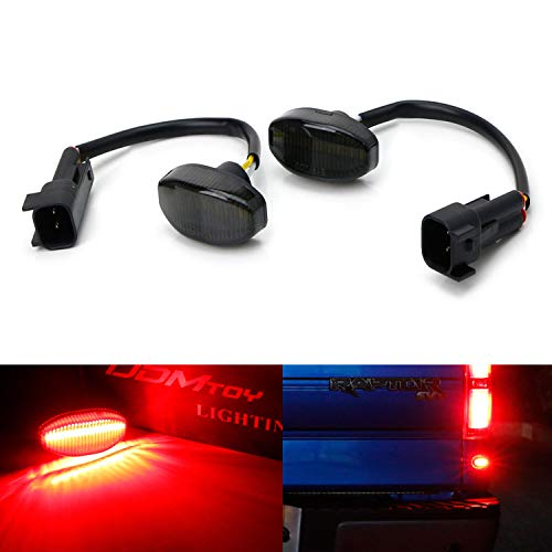 Rear Side Marker Lamp - iJDMTOY Smoked Lens Red Full LED Rear Side Marker Light Kit For 2010-14 Ford Raptor, Powered by 12-SMD LED, Replace OEM Back Sidemarker Lamps