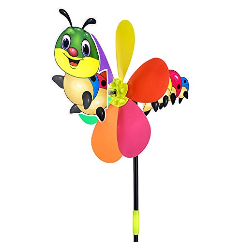 XKSIKjian's Baby Toys 21inch Cartoon Bee Dog Animal Windmill Wind Spinner Home Garden Yard Decor Newborn Brain Development Toys for Infants Toddler - Caterpillar##