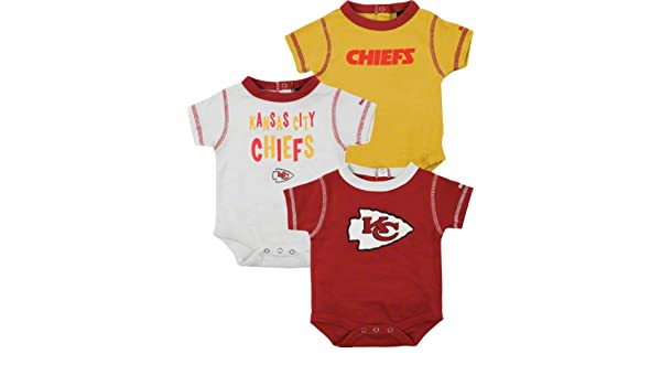 reputable site dd764 0e3a4 Amazon.com : Reebok Kansas City Chiefs Infant 3 Pc. Creeper ...