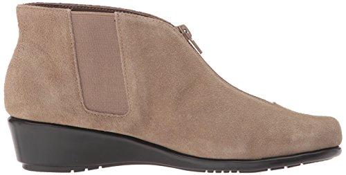 Aerosoles Women's Allowance Ankle Boot, Dark Gray Suede Taupe Suede