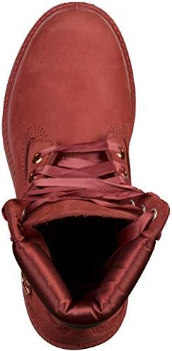 rosso da nabuk donna Premium Red in Timberland Scarpe 6in A1sc7 pelle xXRqzFwAv