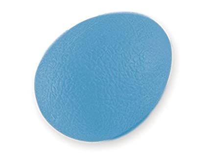 Esercitatore per Dita Polso Mano Colore Blu. Gima Livello Duro per Riabilitazione Pallina Antistress a Forma di Uovo