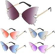 Women Fire Flame Sunglasses Rimless Wave Sun Glasses Novelty Eye Glasses Eyewear