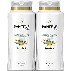Pantene Pro-V Smooth & Sleek Shampoo, 25.4 Fluid Ounces (Pack of 2)
