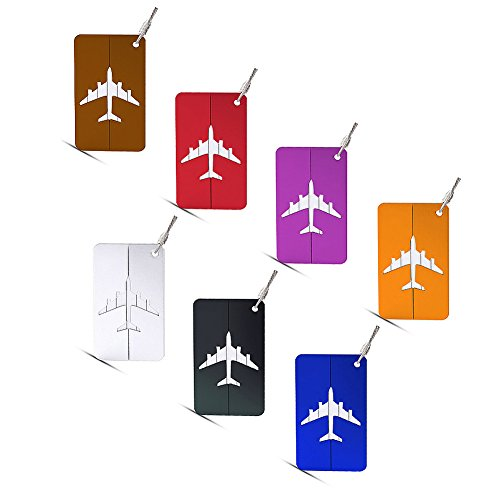 Hibate Metal Luggage Tags Suitcase Bag Labels Baggage Accessories- Set of - Luggage Wholesale Tags