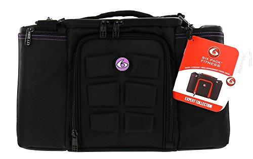6 Pack Fitness Bag Innovator 300 Black/Neon Purple