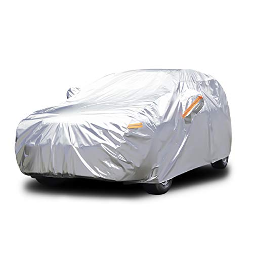 Audew All Weather Car Cover 6 Layer Breathable UV Protection Waterproof Dustproof Universal Fit Full Car Covers for SUV, Jeep XL(190''-201'')