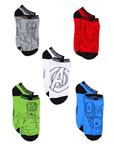 Avengers Boys 6 pack Socks (L 3-9, Blue/Red/Green) -