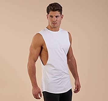 1e9973697ddc88 Image Unavailable. GymShark gym Shark eaze sleeveless sleeveless T-shirt ...