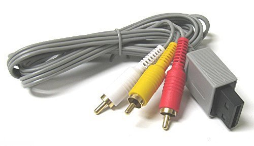 Audio Video Av Composite RCA Cable for Nintendo Wii (Wholesale Wii)