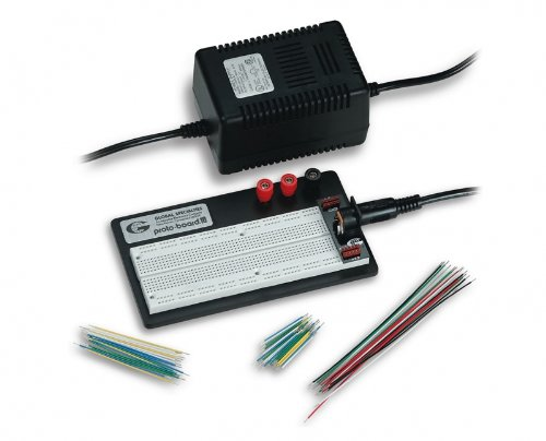 Global Specialties PRO-S-LAB Breadboard with External Power and Jumper Wires by Global Specialties