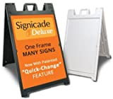 Kyпить Deluxe Signicade A-Frame Sidewalk Curb Sign with Quick-Change System, White на Amazon.com