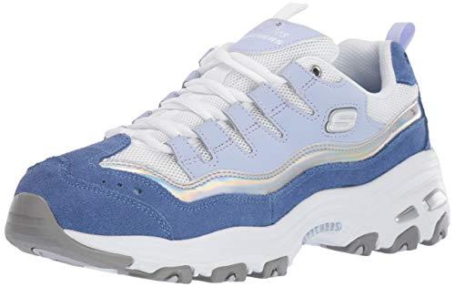 - Skechers D'Lites Grand View Womens Sneakers Blue/Silver 11