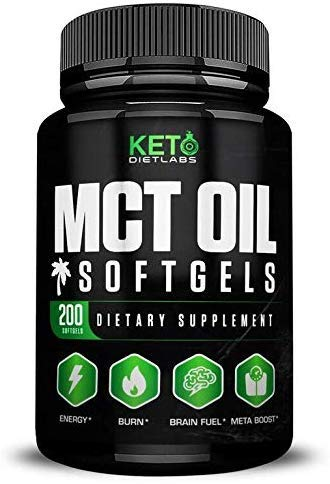 MCT Oil Keto – Mct Oil Capsules Advanced Formula – Pure Coconut Oil – Premium Softgels Perfect for Keto Diet Max Results – Weight Loss Supplements – c8 MCT Oil Pills