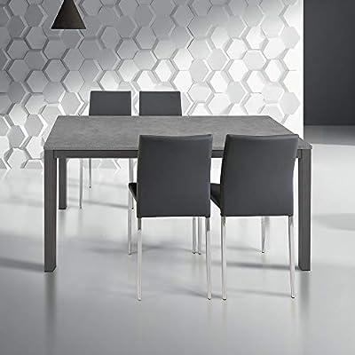Tavoli Allungabili Tavoli Da Pranzo Cucina.Milanihome Tavolo Da Pranzo Moderno Di Design Allungabile Cm 80 X