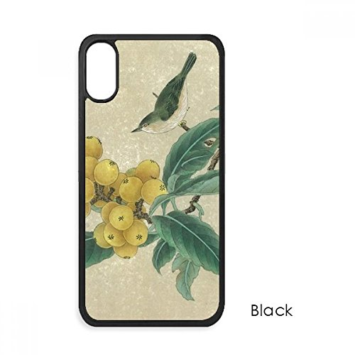 Loquat Embroidered Feather Figure Chinese Painting for iPhone XS Max Cases Phonecase Apple Cover Case Gift