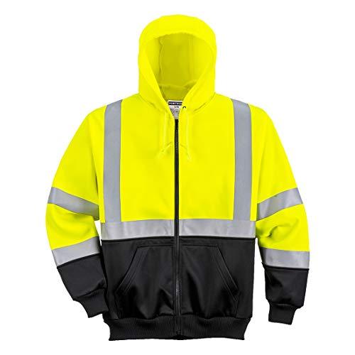 Portwest UB315YBRXXXL Hi-Vis 2-Tone Zipped Hoodie 4658.33 cc Textile, Size- 3X-Large, Yellow/black