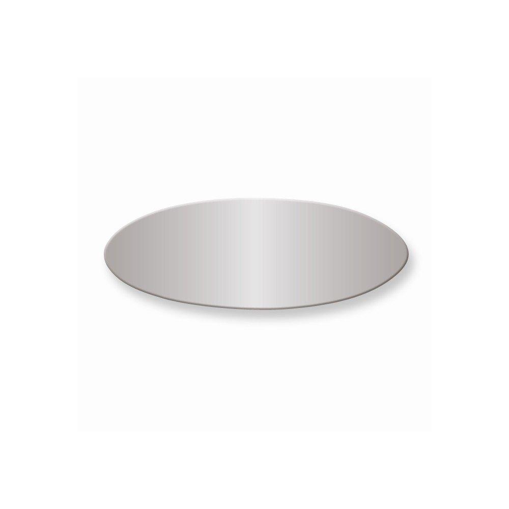 3/4 x 2 Polished Alum Plates-Sets of 6