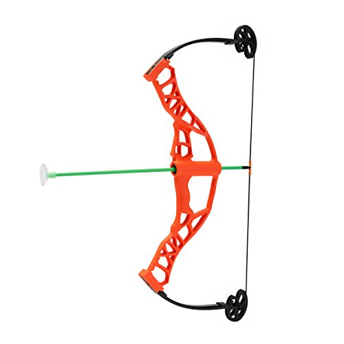 NXT Generation Nitro Blazer Compound Bow Kit ORANGE - Accurate Bowhunting AND Archery Target Practice and Play for Kids - Unisex - Comes with 3 Safe Foam Suction Cup Arrows