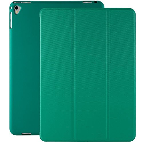 KHOMO iPad Pro 9.7 Inch Case (2016) - DUAL Twill Green Super Slim Cover with Rubberized back and Smart Feature (Built-in magnet for sleep / wake feature) For Apple iPad Pro 9.7 Tablet -