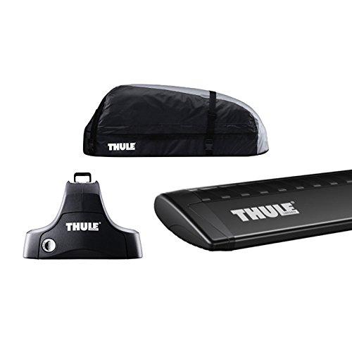 THULE(スーリー) BMW 2シリーズ アクティブツアラー専用ベースキャリアセット(フット754+ウイングバー969B+キット1800)+ルーフボックス レンジャー90 F45 ルーフレールなし 2014~ B07BNBSBPH