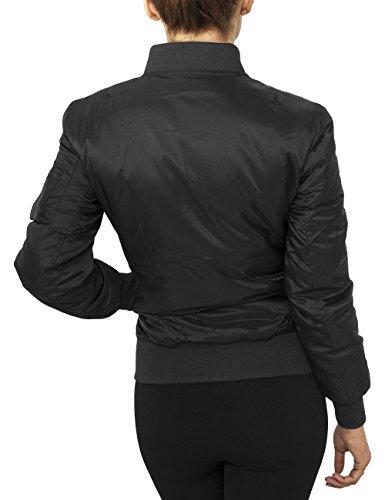 Urban Classics Ladies Basic Bomber Jacket, Chaqueta para Mujer Negro (Black 7)