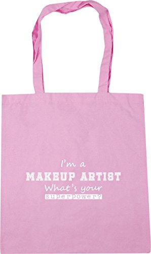 litres I'm Superpower Bag a Classic Pink Gym Artist Beach 10 Makeup Shopping Your HippoWarehouse x38cm 42cm What's Tote Z14wRHqH