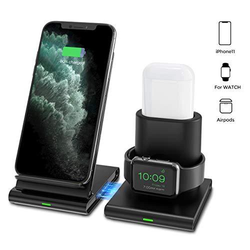 [해외]Seneo Wireless Charger 3 in 1 Wireless Charging Station for Apple Watch Airpods Detachable and Magnetic Wireless Charging Stand for iPhone 1111 Pro MaxXXSXRXs Max88 Plus and other Qi Phones / Seneo Wireless Charger, 3 in 1 Wireless...