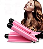 Hair Curling Iron 3 Barrel 1 Inch for Long Hair Professional Curling Wand With LCD Temperature Display Heat Hair Curlers Tourmaline Curling Iron Hair Waver Hot Tools