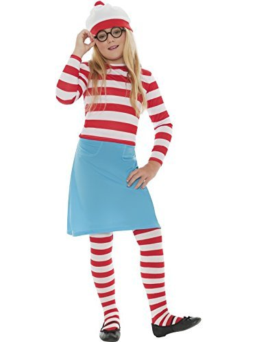 [Fancy Me Big Boys' Where Wally Waldo Book Day Fancy Dres Costume Outfit 7-9 Years Girls] (Wheres Wally Fancy Dress Kids)