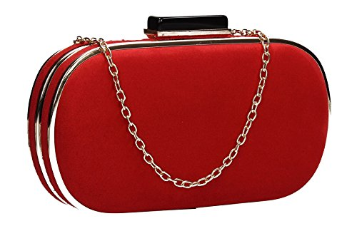 Womens Party Swankyswans Prom Trim Box Clutch Bag Maeve Red Gold qHnSw4p