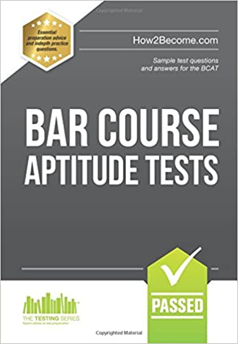 BAR COURSE APTITUDE TESTS Sample Test Questions And Answers