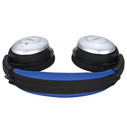 QC15 QC2 Headband Cover, JARMOR Bose Replacement Head Band Protector with Zipper [ Easy Installation ] for QuietComfort 15, QuietComfort 2 Headphones (Blue)