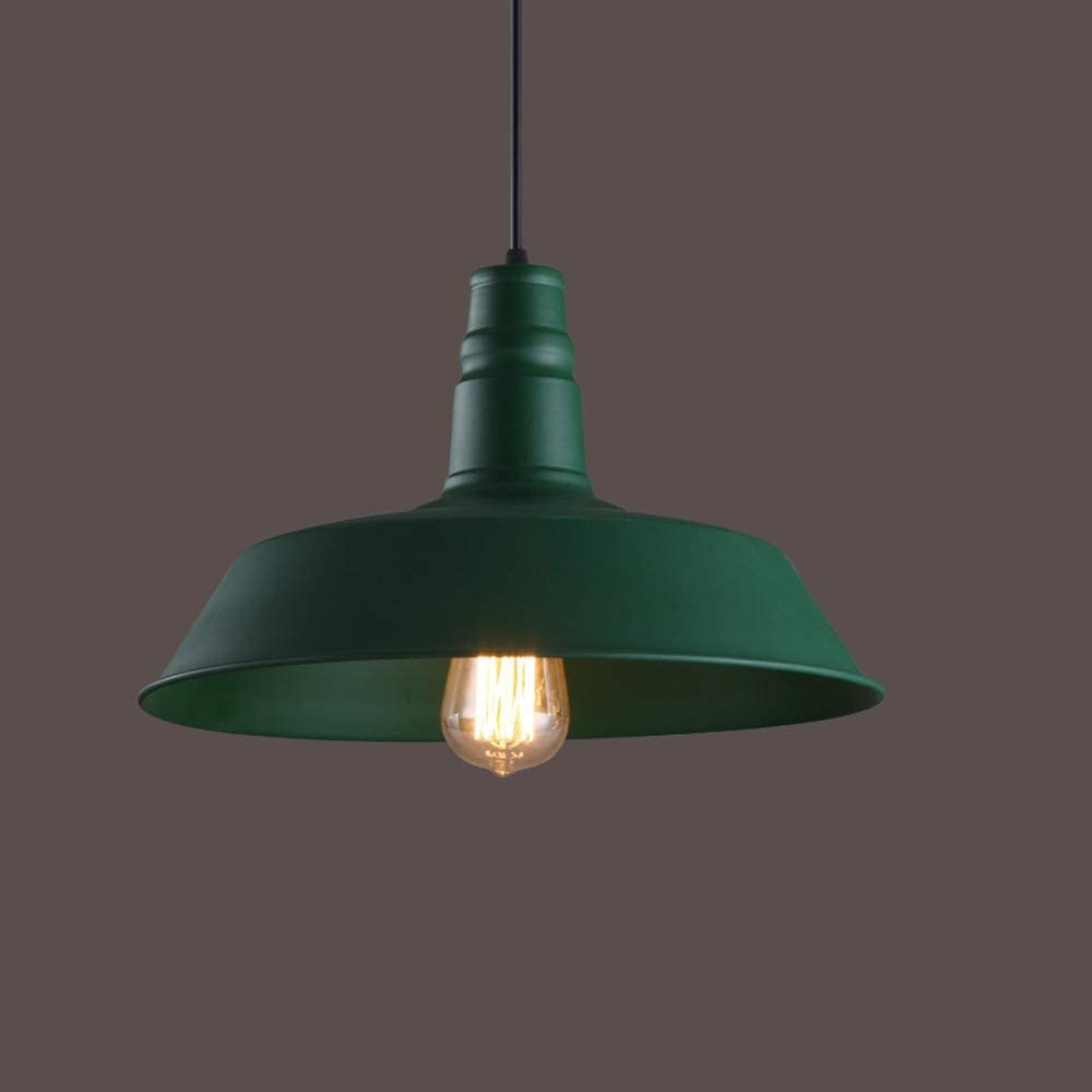 Qyyru Industrial Chandelier Retro Metal Dome Shaped Ceiling Light Iron Ancient Style E27 With Adjustable Home Dining Room Creative Single Head Fixture for Island Loft Counter Restaurants