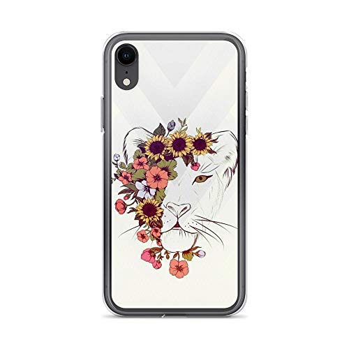 iPhone XR Pure Clear Case Cases Cover Lion Floral - Delft Ginger Jar