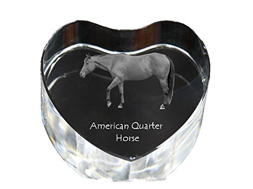 Art Dog Ltd. American Quarter Horse, Crystal Heart with Horse, Decoration, Limited Edition, Glass Collection