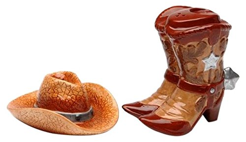 Cg SS-CG-20703, Two Piece Boots with Cowboy Hat Salt and Pepper ()