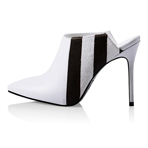 Sandals CJC High-Heeled Baotou High Heels Thin High Heels Fashion Outer Wear White jl6f7Gn6h