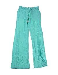 Miken Women's Crinkled Cotton Pocket Swim Cover Pants