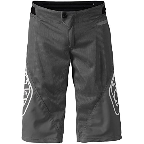 Troy Lee Designs Sprint Solid Youth Off-Road BMX Cycling Shorts - Gray / 26