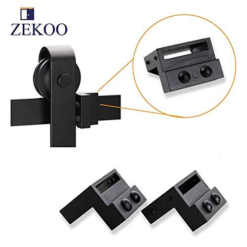 ZEKOO Black Steel Stopper Limit Device for Sliding Barn Door Hardware Track Roller Stop Kit Accessories (Stop Door Sliding)