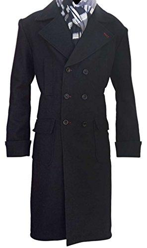 MPASSIONS Sherlock Holmes Coat Benedict Cumberbatch Wool Black Costume - Benedict Cumberbatch Sherlock Costume