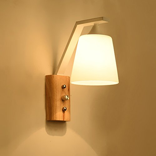 kun peng shop nordic massivholz kommt mit schalter wandleuchte schlafzimmer holz farbe gang nachttischlampe a farbe wei amazonde beleuchtung