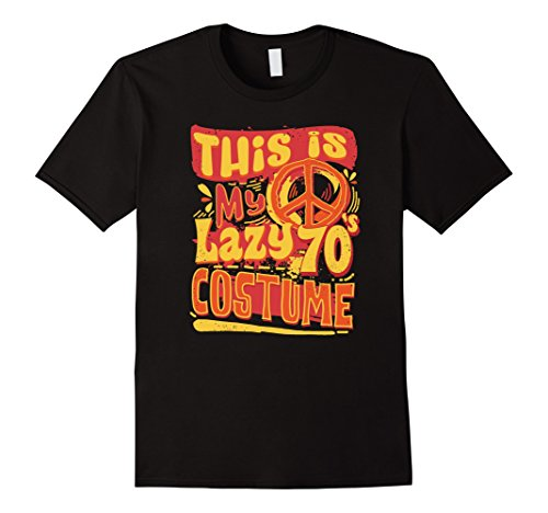 Mens Easy Halloween Costume For Adults Lazy 70's Costume T-Shirt XL (Easy A Costumes)
