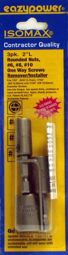 (Eazypower 88241 Get It Out One Way/Rounded Screw Removers, 6, 8, 10)